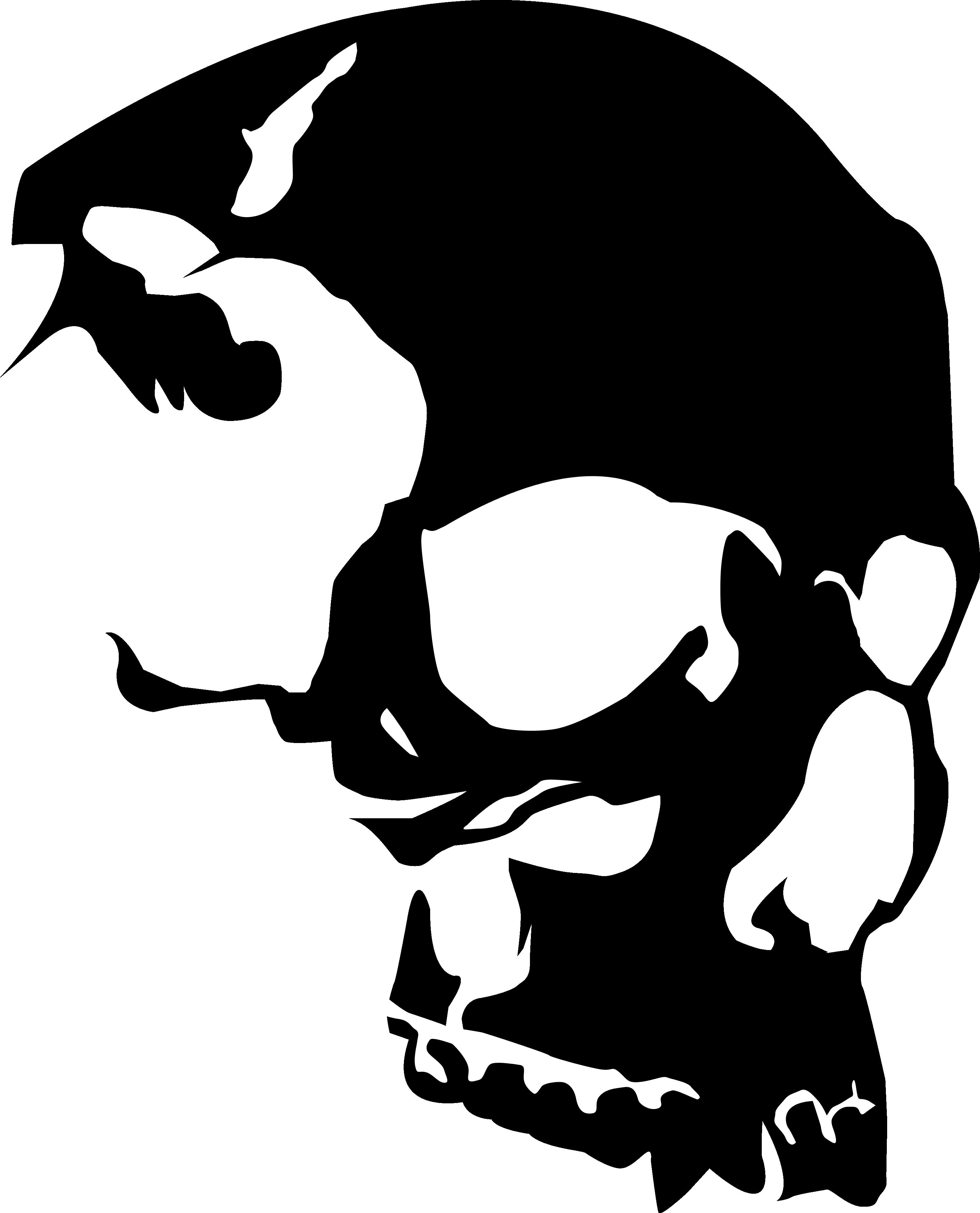 Vector Skull Clipart Best Skull Stencil Skull Silhouette Skulls Drawing