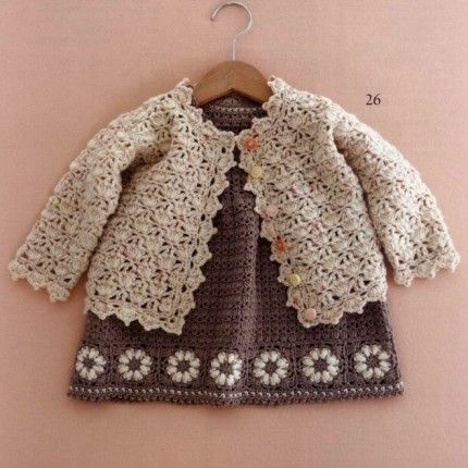 Crochet For Children: Little Girl Crochet Cardigan - Free Crochet ...