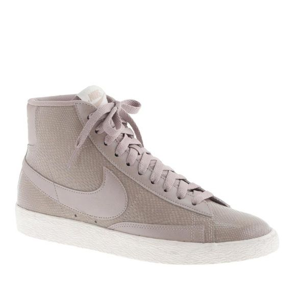 nike blazer mid twist burgundy high top trainers vans