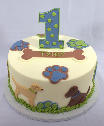 Puppy Dog Birthday Cake By My Sweet Austin Via Flickr