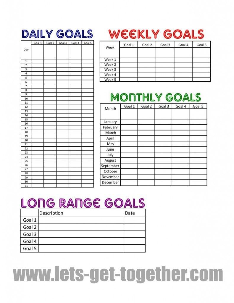 New Year Goal Setting Tips Free Printable Goal Charts Goals