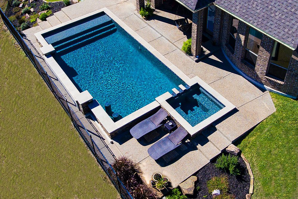 Rockwall Pool Design Dallas Photo Gallery Outdoor Living   Geometric Pool  With Benches And Tanning Ledge | House | Pinterest | Pool Designs, Pool  Builders ...