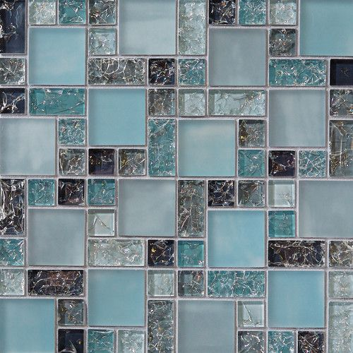 Found it at Wayfair - Ice Crackle Random Sized Glass Mosaic Tile in