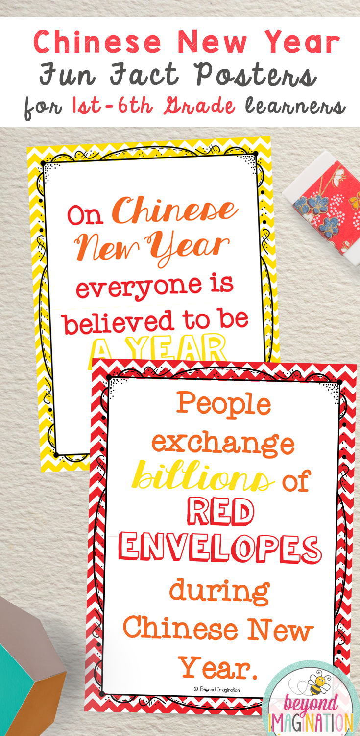 Chinese New Year Fun Fact Posters for 1st- 6th grade learners. #chinese #new  #year #chinesenewyear #4th …   Chinese new year activities [ 1500 x 735 Pixel ]