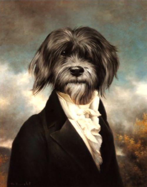 Amusing Portraits Of Aristocrats With Dogs Heads Designtaxi Com