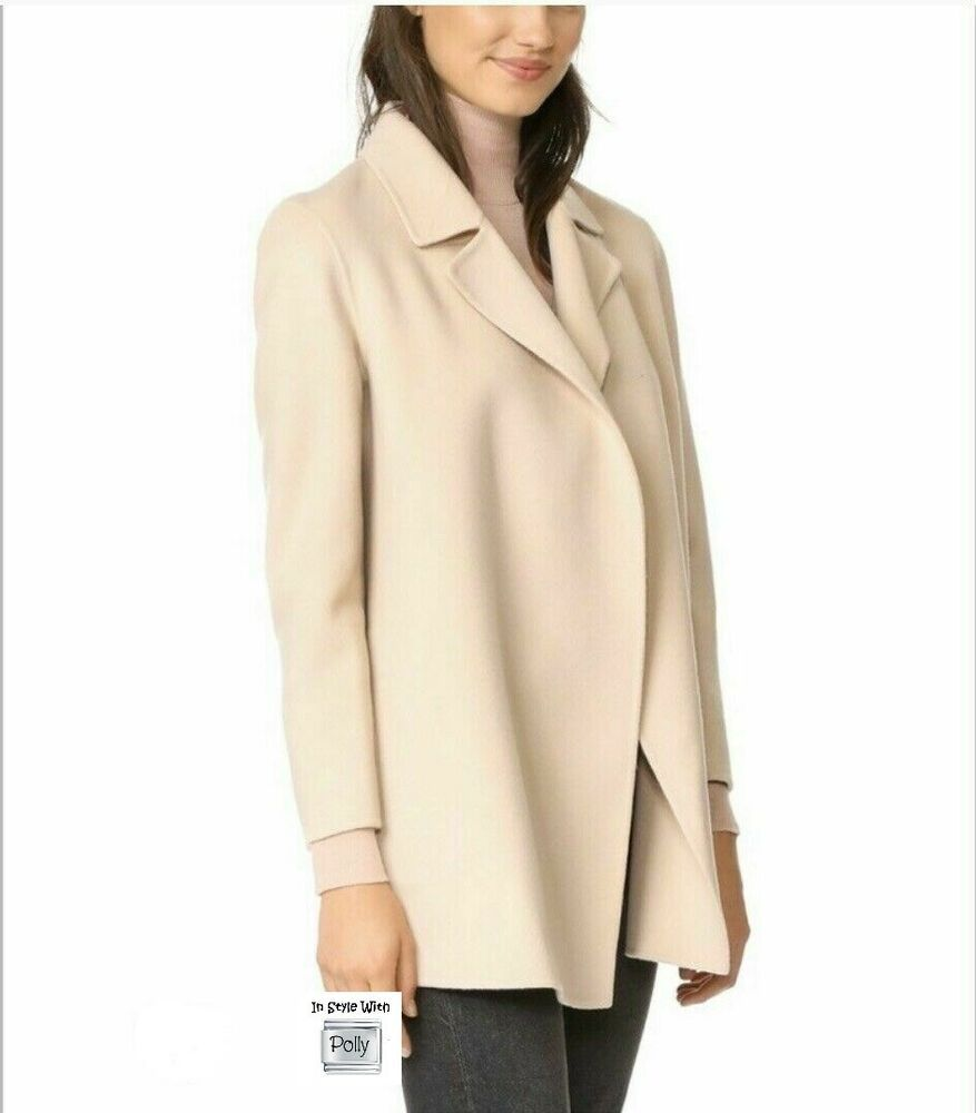 NWT THEORY COAT SILEENA MEDIUM PEARL MELANGE Jacket Blazer 595