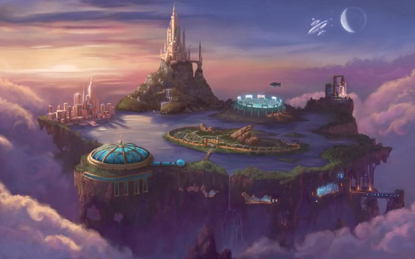 Pin By Thea Huffman On R Tripp S Fav Chrono Art Fantasy City Fantasy Landscape Castle Art