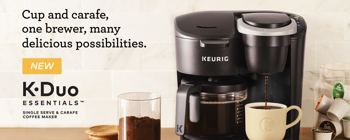 KDuo Essentials™ Single Serve & Carafe Coffee Maker in