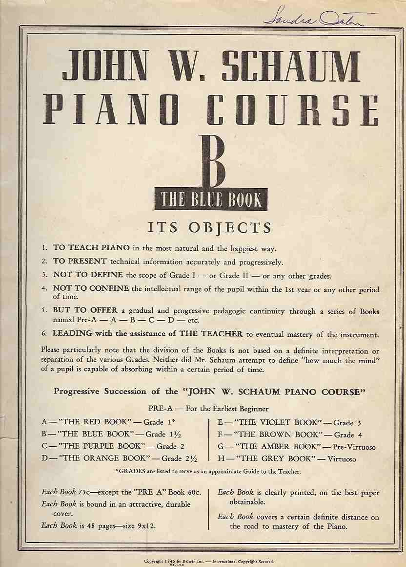 Cover Click To View In Full Window Piano Teaching Teaching