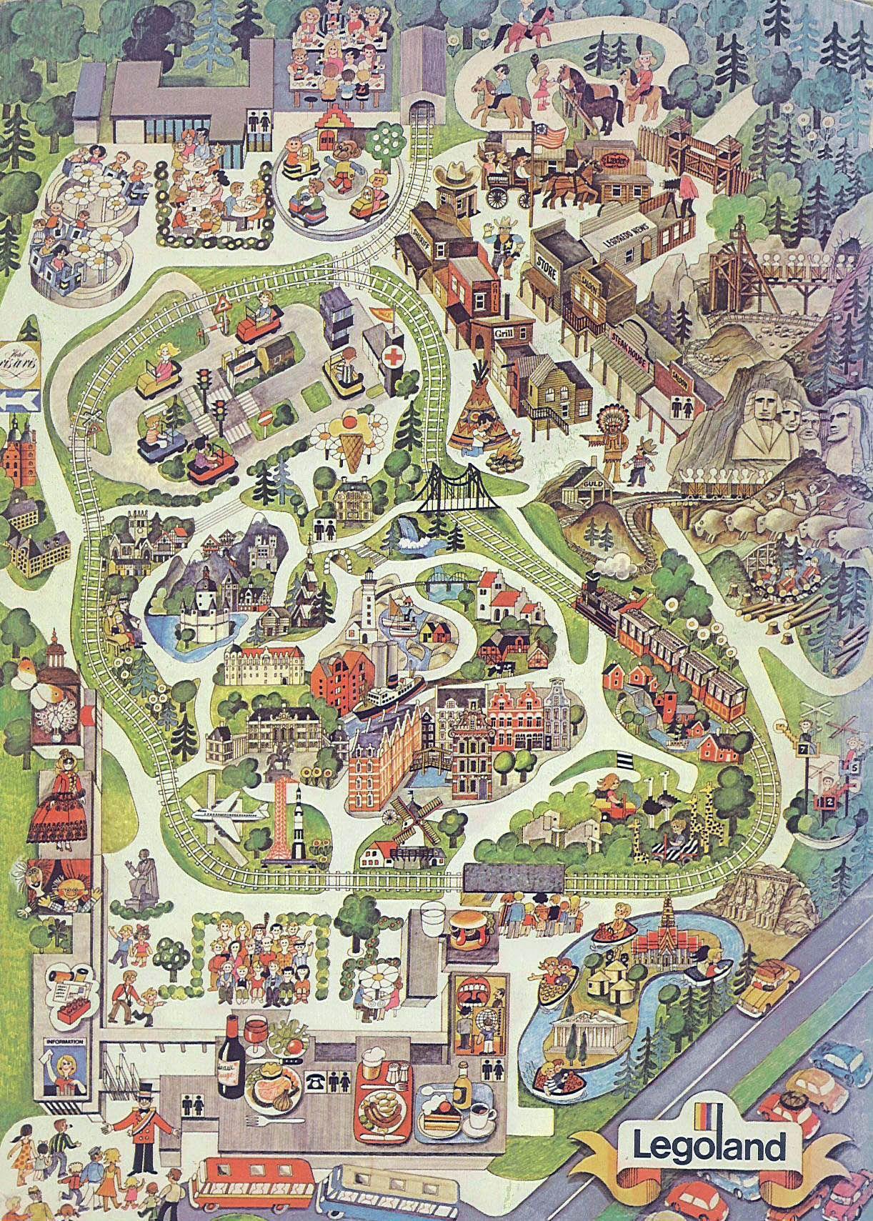 Legoland (1980) in 2020 | Fantasy map, Map art, Legoland