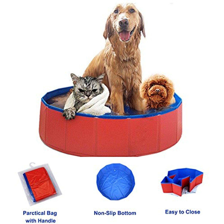 PVC Portable Foldable Dog Pet Swimming Pool Bathing Tub