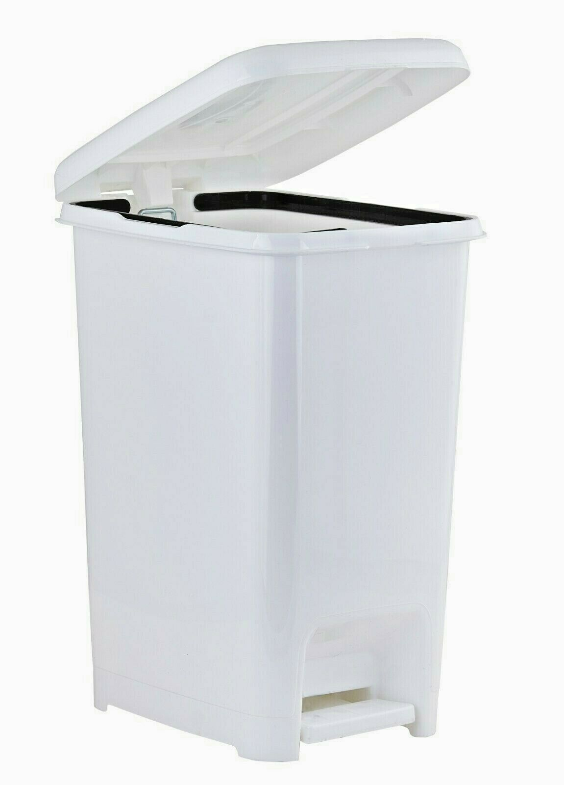 Plastic White Kitchen Trash Can Lid