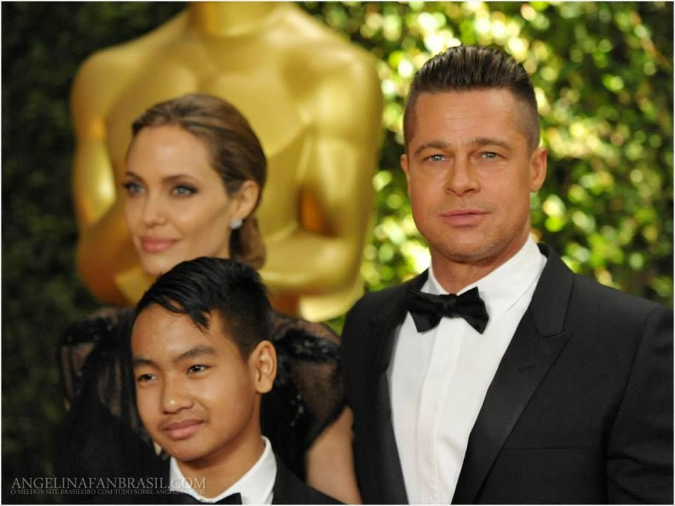 brad pitt and angie and there son