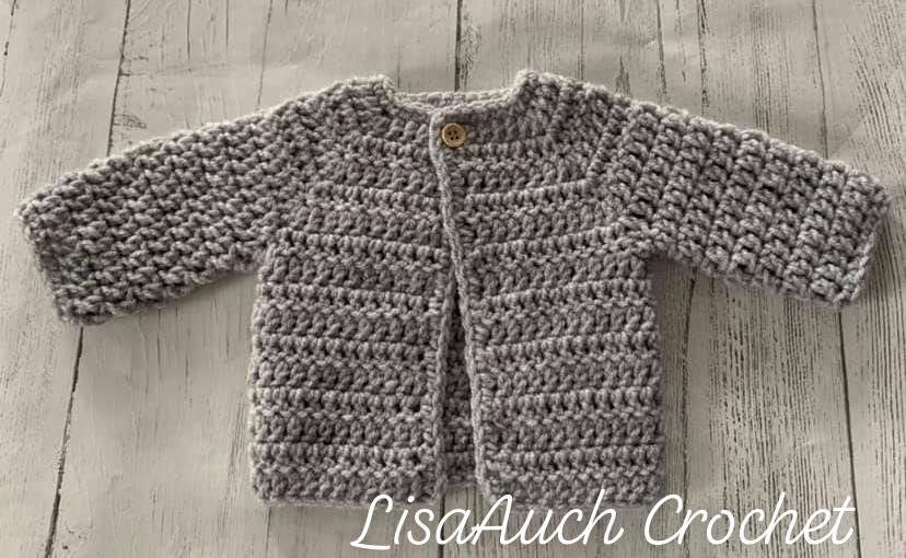 Baby Cardigan Free Crochet Pattern