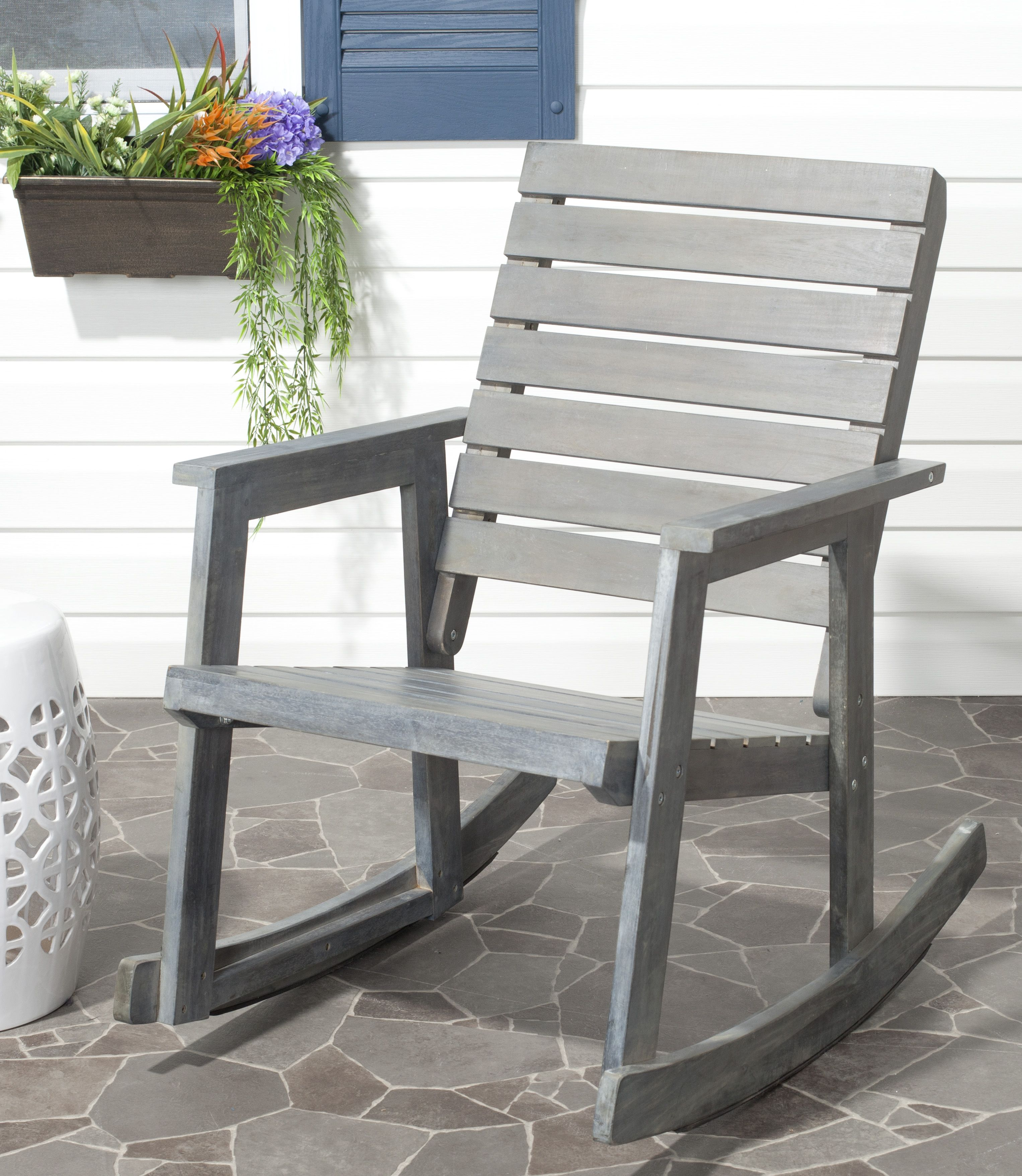 white outdoor rocking chair home depot
