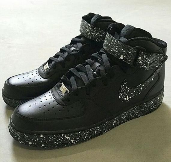 black air force 1 high top custom