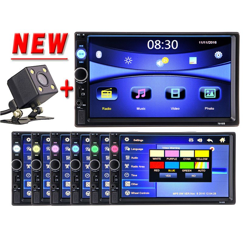 "2DIN 7/"" HD Car Stereo Radio MP5 Player Bluetooth Touch Screen FM//MP3//MP4//Video"