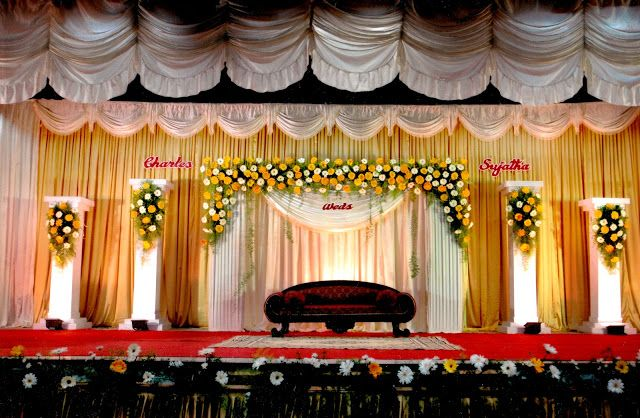 Marriage Wedding Stage Decorations Background Images Of India In