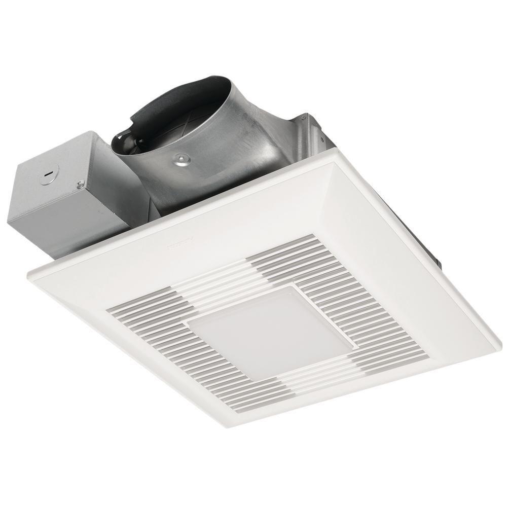 Panasonic Whispervalue Dc 50 80 100 Cfm Pick A Flow Ceiling Ventilation Fan W Led Light White In 2020 Led Night Light Ceiling Installation Led