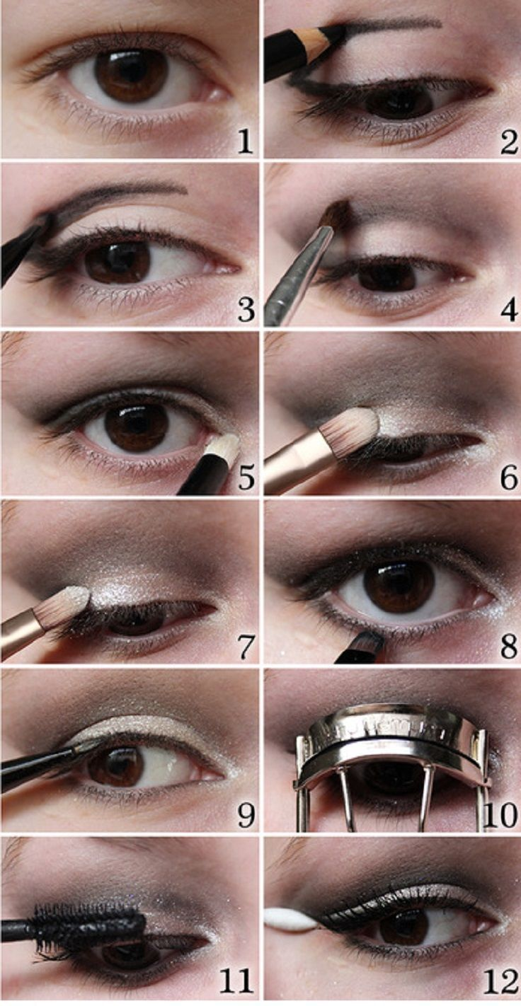 Evening eye makeup tutorial for hooded eyes beauty pinterest evening eye makeup tutorial for hooded eyes baditri Image collections