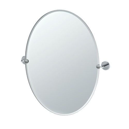 Hotel Vogue Chrome Large Tilting Oval Mirror Mirror Oval Mirror
