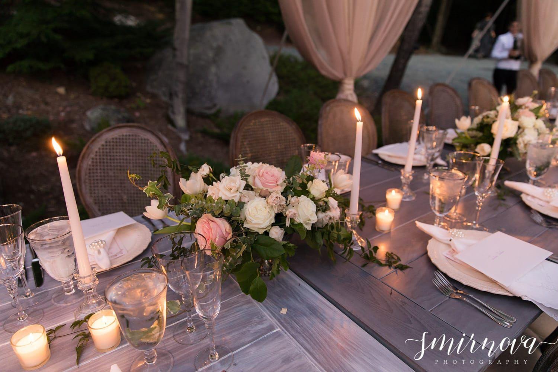 Blush Candlelit Wedding Reception Decorations Smirnova Photography