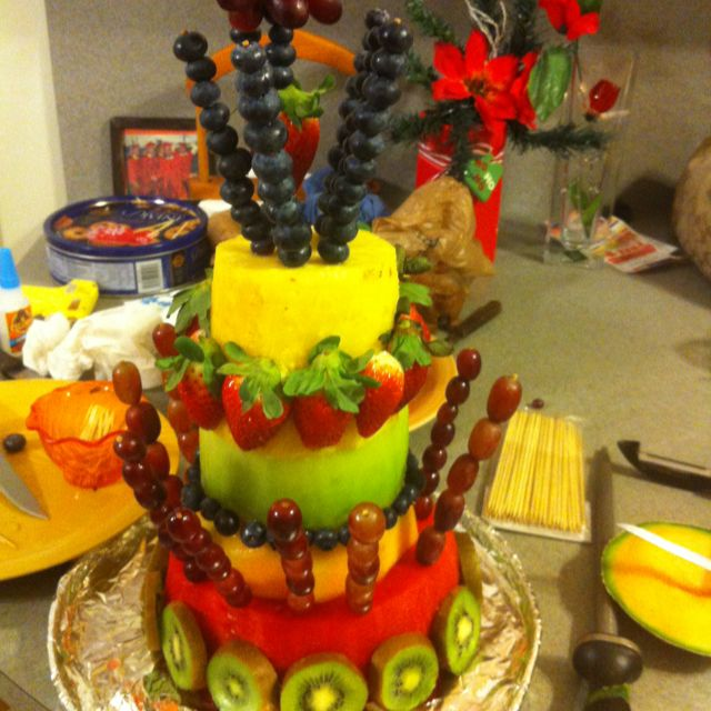 Cake Made Out Of All Fruit