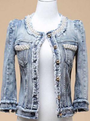 Как своими руками украсить джинсовый пиджак своими руками фото