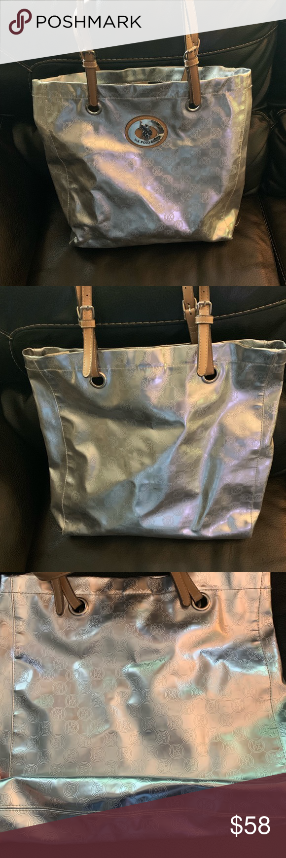 Us Polo Association Tote Uspa Tote Bag Gently Used Torn Pocket On The Inside As Shown In Photo U S Polo Assn Bags Totes Polo Association Tote Bags Totes