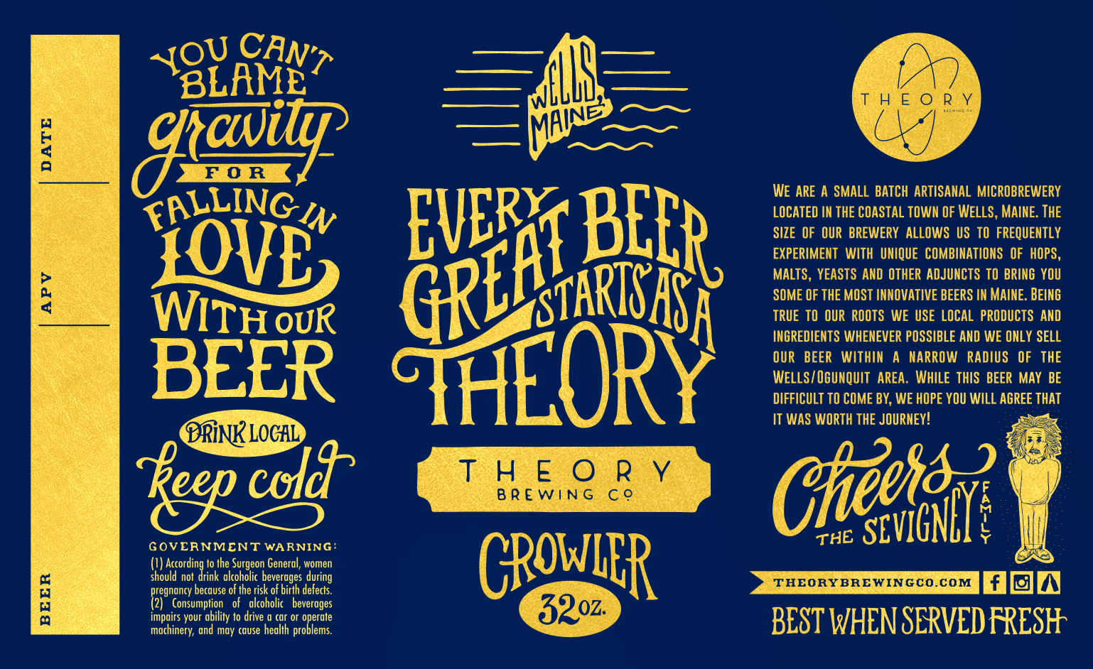 theory brewing co crowlers cans pinterest beer label beer