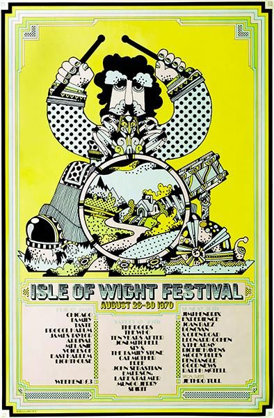 Isle Of Wight Festival 1970 Concert Poster Concert Posters Vintage Music Posters Concert Poster Art