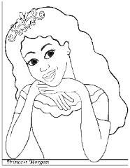 African American Princess Coloring Page: Princess Morgan   coloring ...