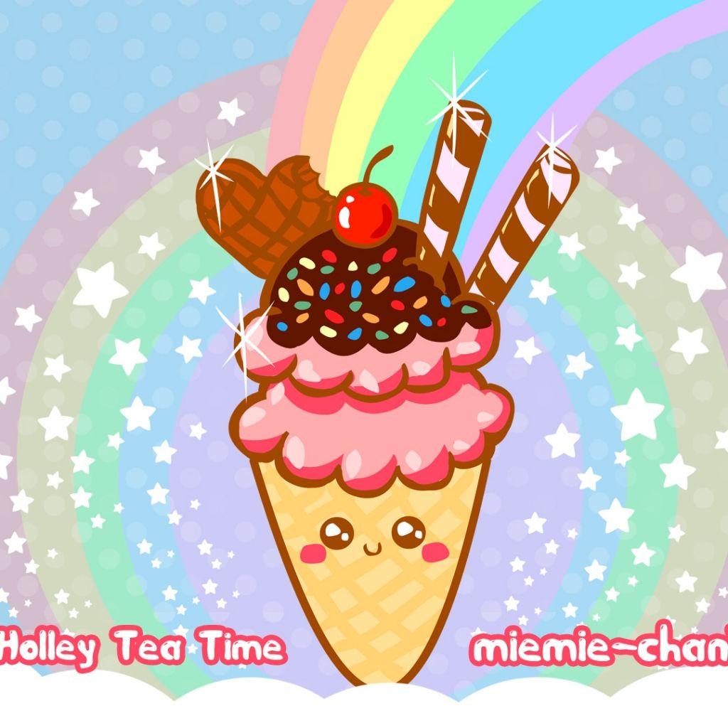 Kawaii heaven ipad wallpaper ice cream wallpaper cream