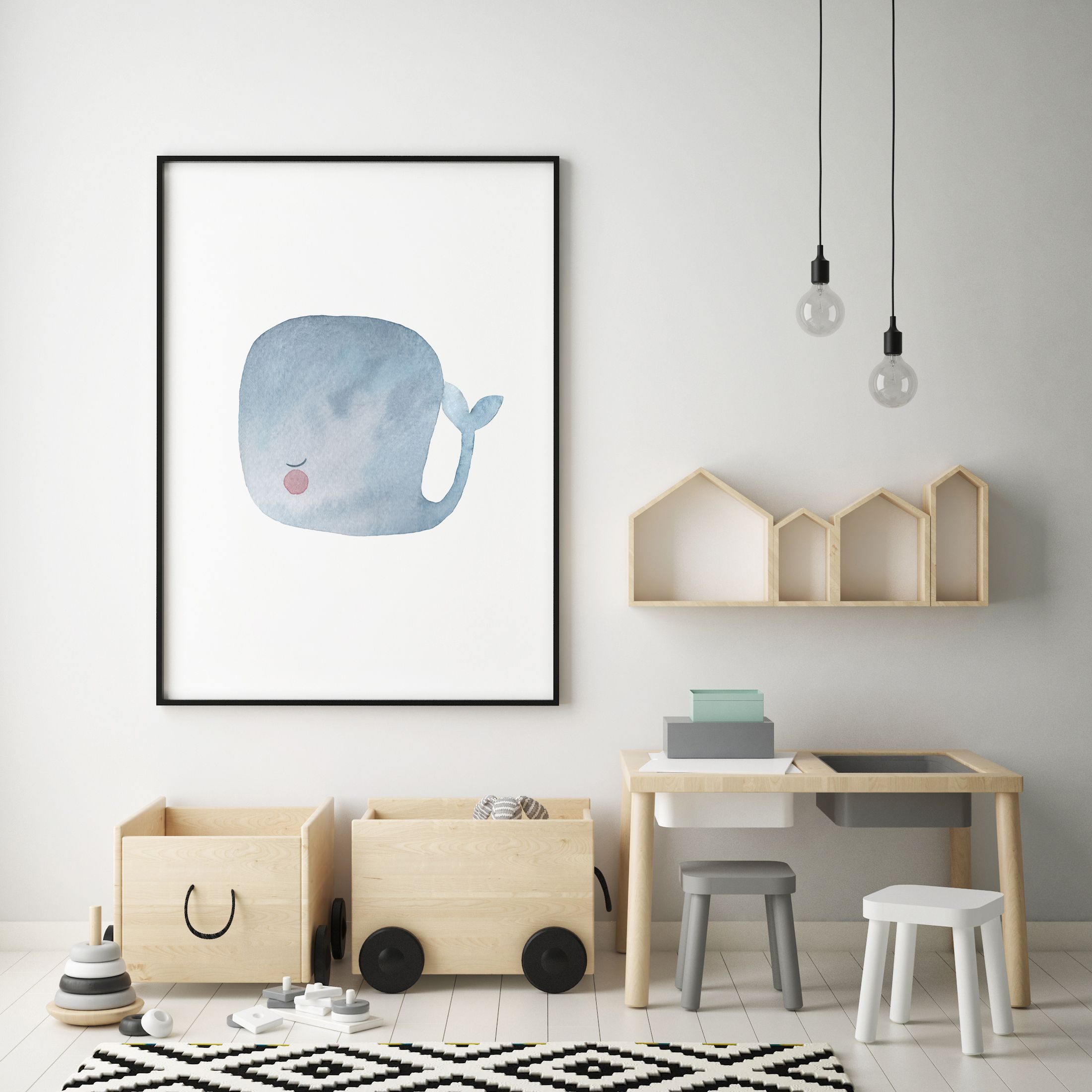 Babyzimmer Accessoires Baby Whale Print 04 Ocean Art Print Watercolor Whale Art Whale