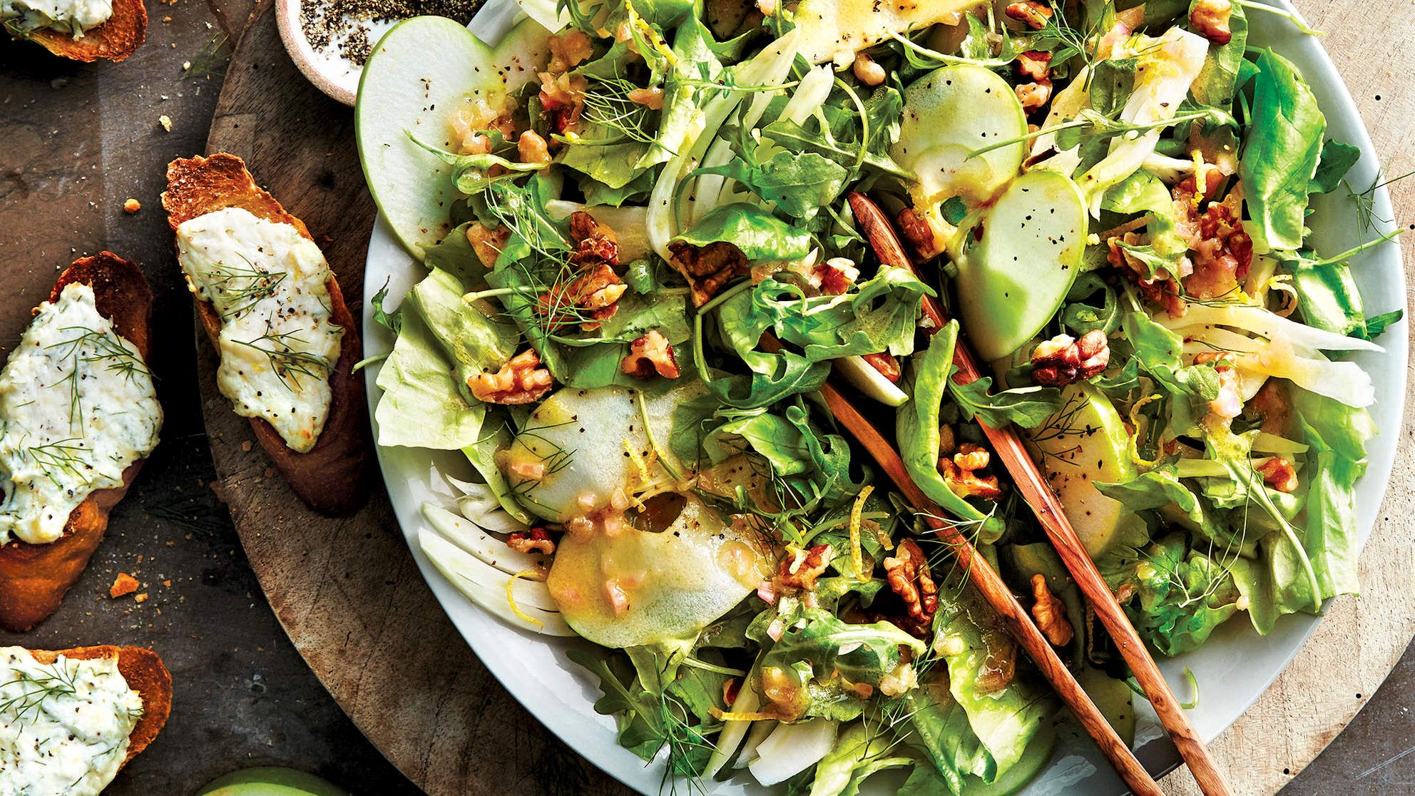 Arugula Apple And Fennel Salad With Citrus Vinaigrette This Recipe For Arugula Apple And Fennel Citrus Vinaigrette Recipe Fennel Salad Citrus Vinaigrette