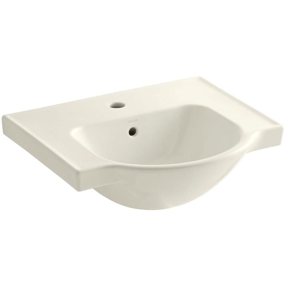 Kohler Veer 21 In Vitreous China Pedestal Sink Basin In Almond