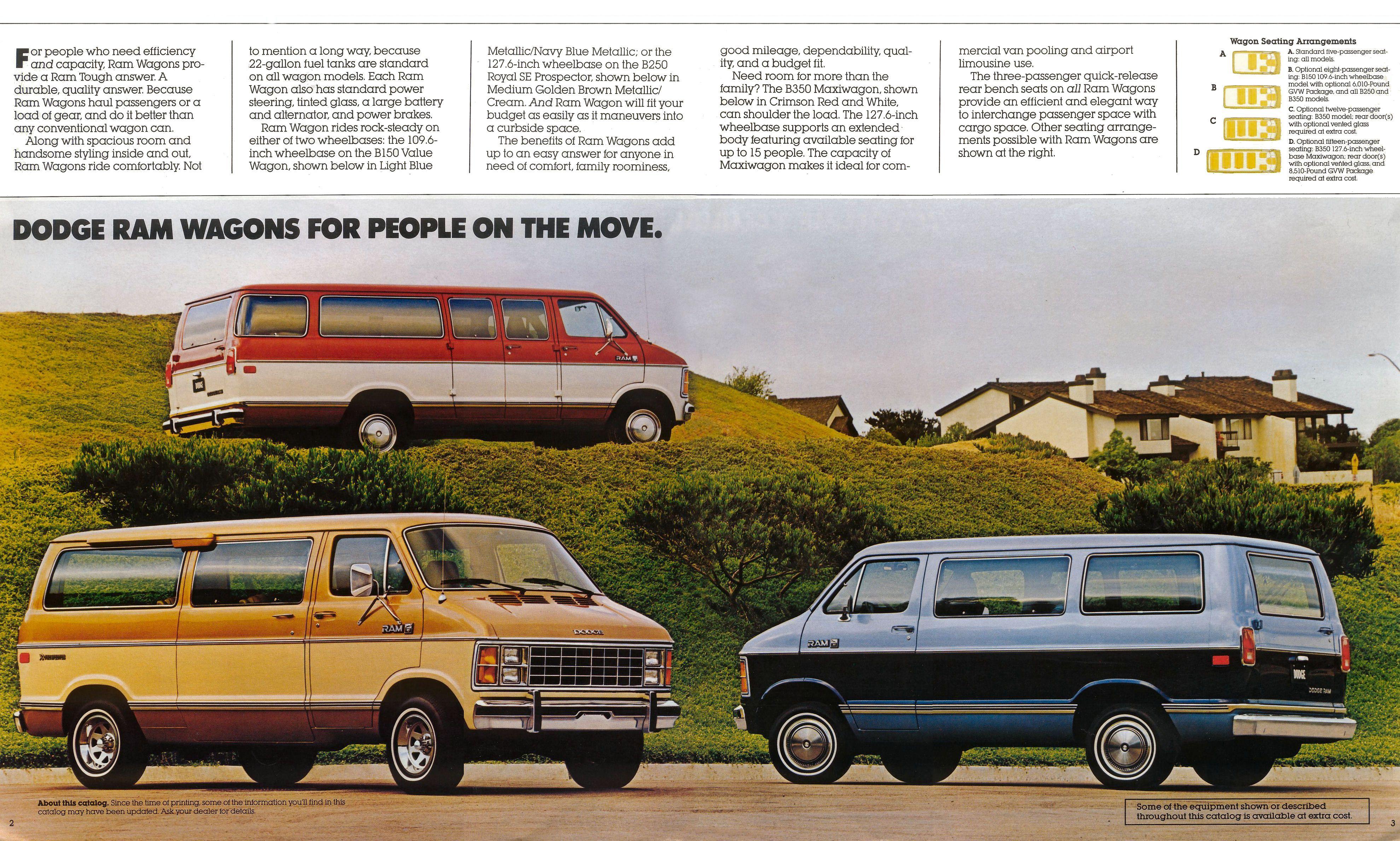 1985 Dodge Van Sales Literature Dodge Van Dodge Ram Wagon Van