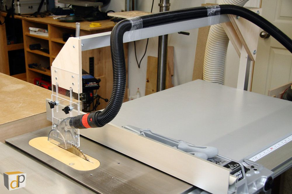 Table saw dust collection upgrade #4 - Overarm dust ...