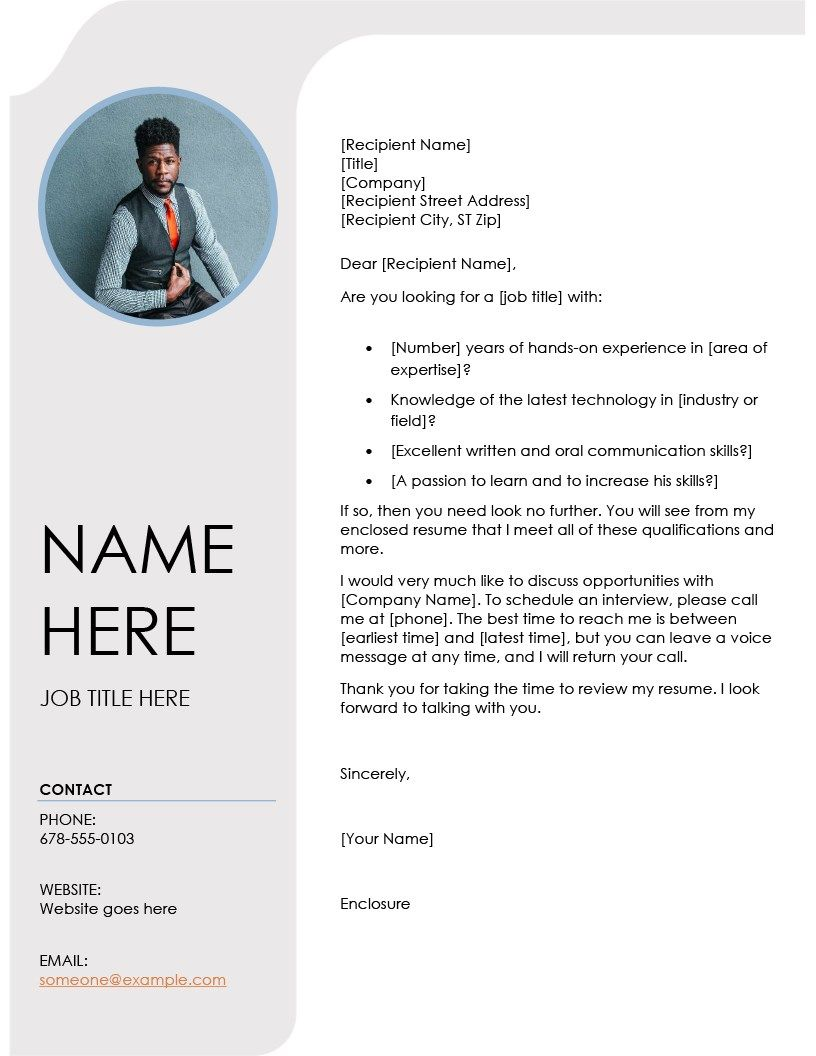 template cv resume and cover letter blue grey