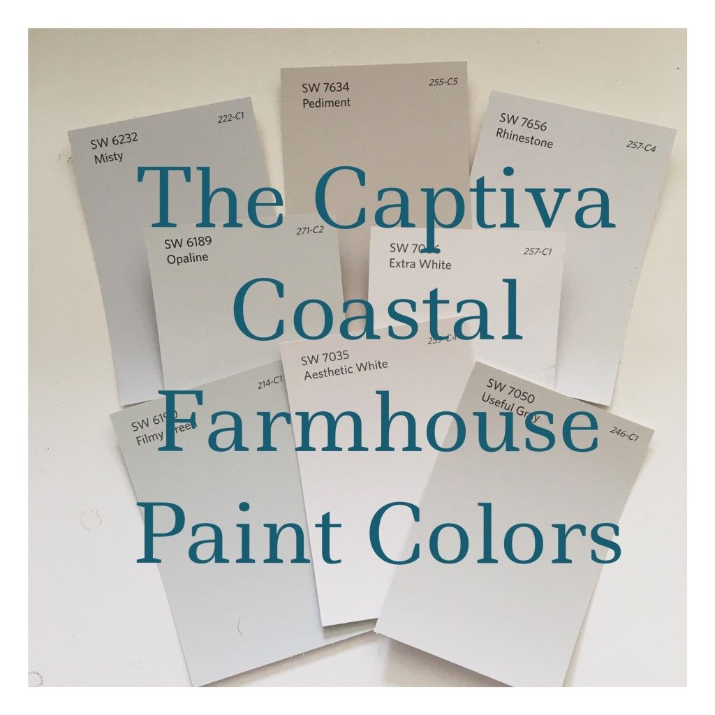 Looking For A Coastal Farmhouse Paint Palette Soft Colors From SherwinWilliams At The Captiva