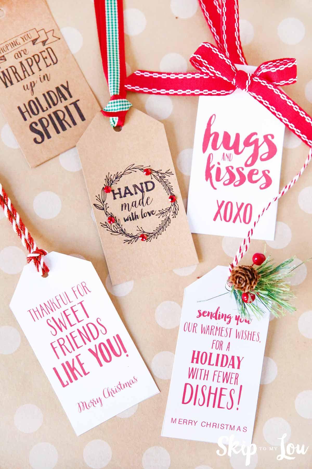 printable gift tags with cute sayings Easy christmas