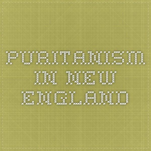 puritanism definition literature