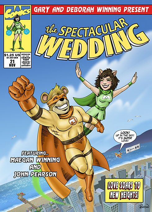 A Trend We Can Get Behind Comic Book Wedding Invites Click Thru To See The Insides