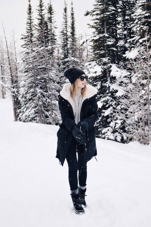 Stylish warm winter clothes