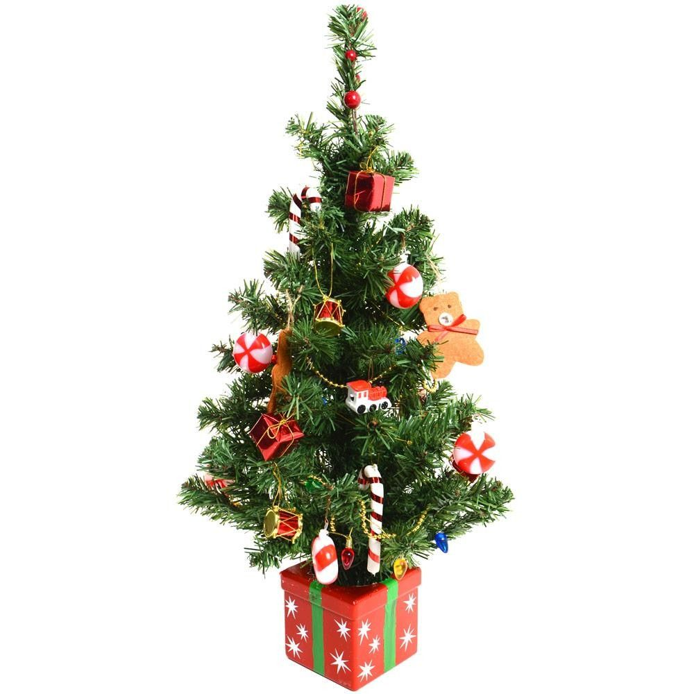 decorated christmas trees pre decorated artificial mini desk table top festive christmas tree