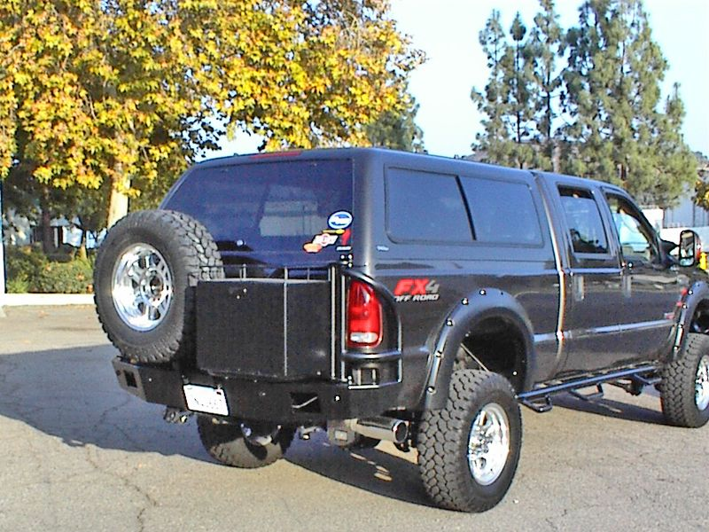 Ford Super Duty Rear Bumper 08 10 Aluminess Products Inc Ford Super Duty Ford Excursion Super Duty Trucks