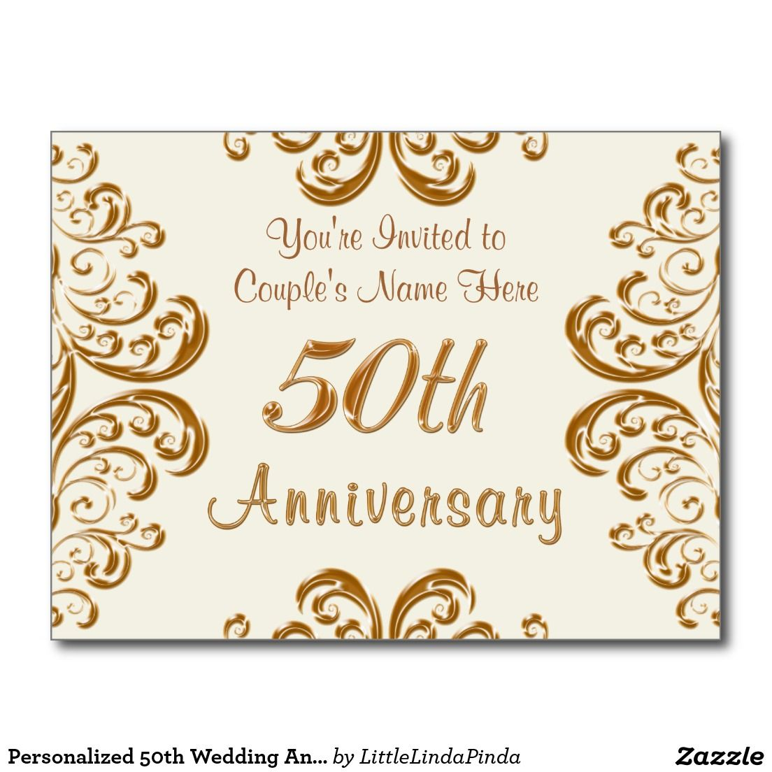 Personalized 50th wedding anniversary invitations 50th wedding inexpensive and beautiful personalized 50th anniversary invitations postcards click http stopboris Images