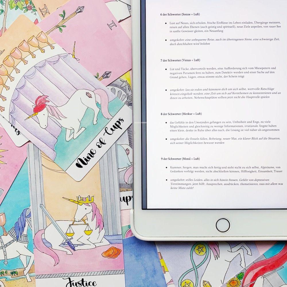 Tarot Kurs Online - Tarot selber lernen mit dem Kurs von