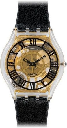 awesome Forot Noire Transparent Gold Dial Black Leather Ladies Watch SFK392 - For Sale Check more at http://shipperscentral.com/wp/product/forot-noire-transparent-gold-dial-black-leather-ladies-watch-sfk392-for-sale/