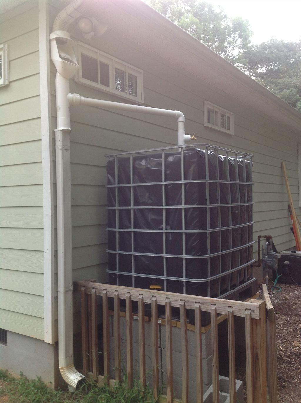 Rain Harvesting Setup Completed 2 300 Gallon Capacity Rain Harvesting Rain Water Collection System Rain Water Collection